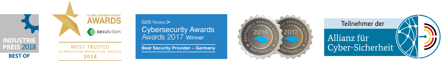 Awards for the seculution GmbH